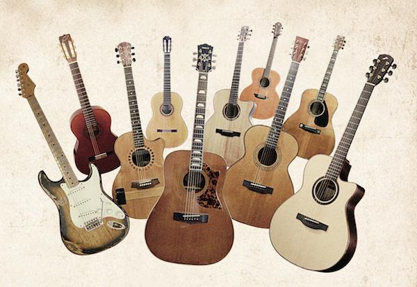 参加アーテイィストそれぞれが実際にレコーディングで使ったギター